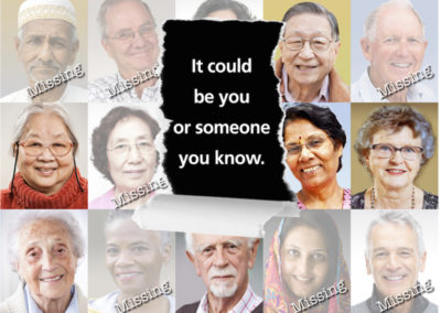 3 out of 5 people with dementia go missing. If not found within 24 hours, they risk serious injury or even death.