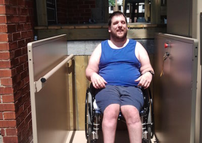 The OFCP Assistive Devices Funging Program purchased and installed a lift in Stephen's home to enable him more independience and access to his home.